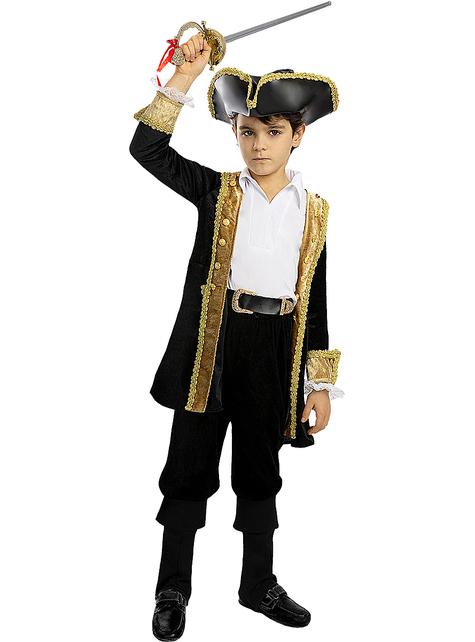 Disfraz de pirata deluxe para niño- Colección colonial