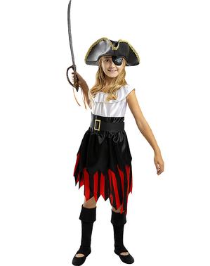 Costume da pirata per bambina - Collezione bucaniere