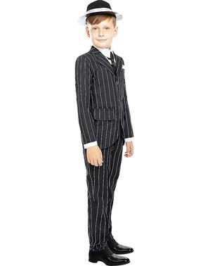 Costume da gangster nero anni 20 per bambini