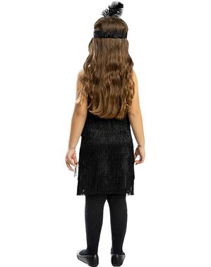 Svart Flapper Kostyme til Jenter