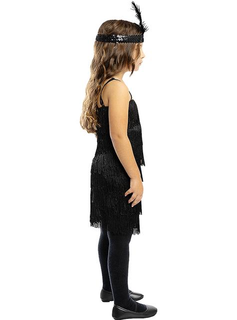Disfraz de charlestón negro para niña