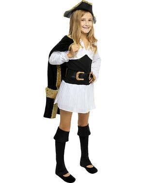 Deluxe kostým pirát pro dívky - Koloniální Kolekce