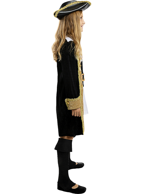 Deluxe Pirate Costume for Girls - Colonial Collection