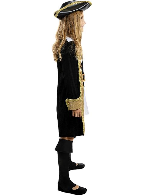 Disfraz de pirata deluxe para niña- Colección colonial
