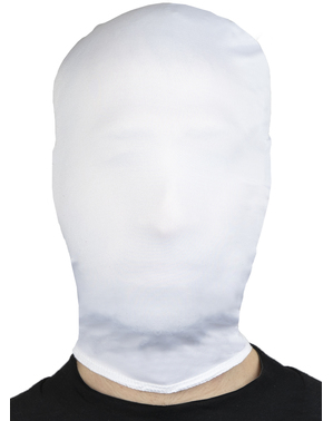 Masque Slenderman blanc