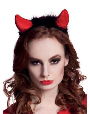 Hårbøjle med djævlehorn til kvinder