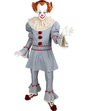Pennywise Maskeraddräkt stor storlek - It Chapter Two