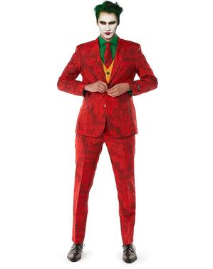 Rødt Joker Kostume - Suitmeister