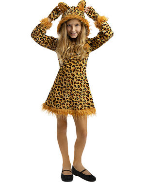 Leopardí kostým pre dievčatá