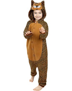 Fato de leopardo onesie para menino