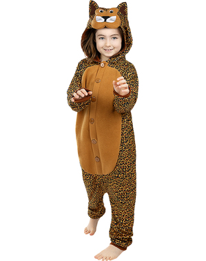 Onesie Leopard Costume for Kids