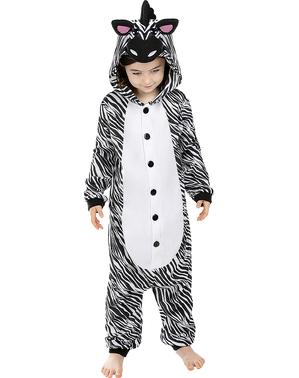 Kigurumi Zebra Maskeraddräkt för barn
