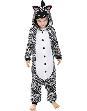 Onesie Zebra Costume for Kids