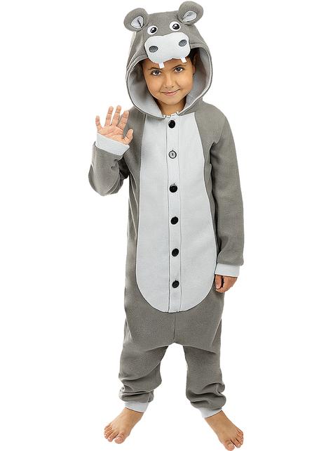 Disfraz de hipopótamo onesie para niños