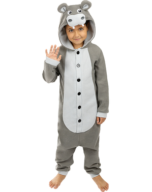 Onesie Hippo Costume for Kids