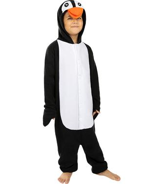 תחפושת פינגווין - חליפת גוף שלמה לילדים