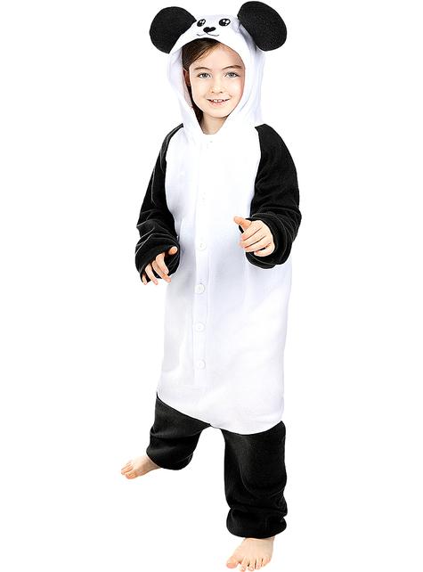 Onesie panda kostuum voor kinderen