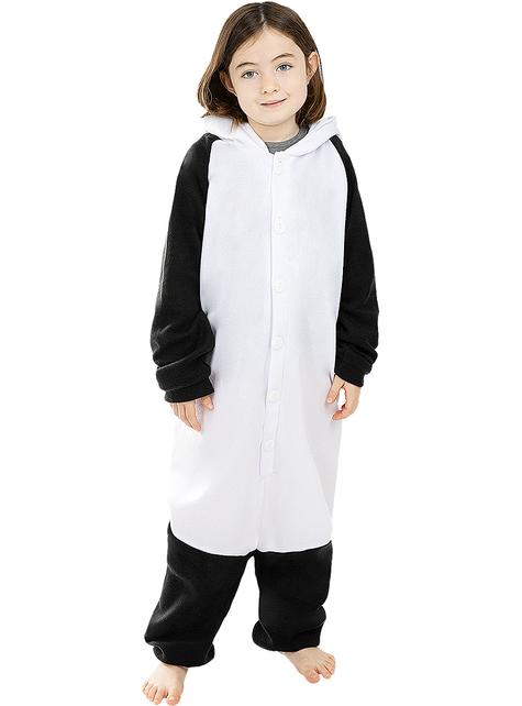 Disfraz de oso panda onesie para niños