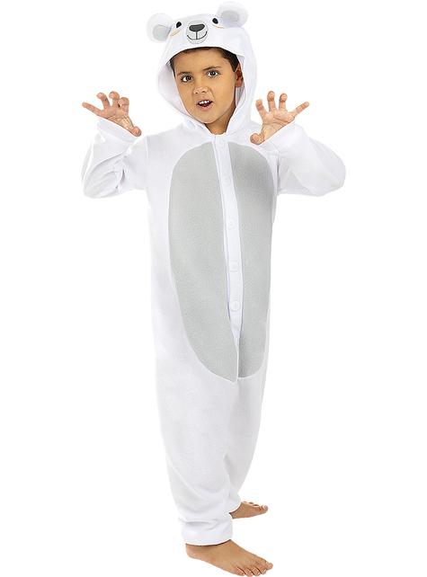 Déguisement ours polaire onesie enfant