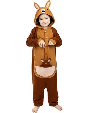 תחפושת קנגרו - חליפת גוף שלמה לילדים