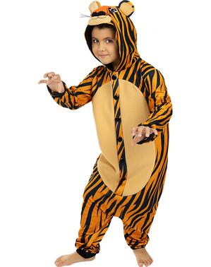 Fato de tigre onesie para menino