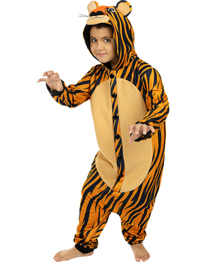 Onesie Tiger Kostume til Børn
