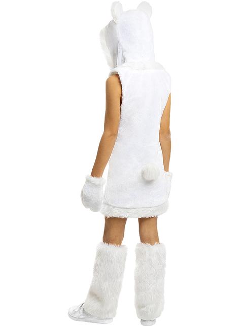 Strój Niedźwiedź Polarny dla dziewczynek