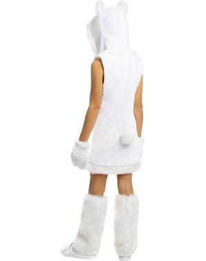 Fato de urso polar para menina