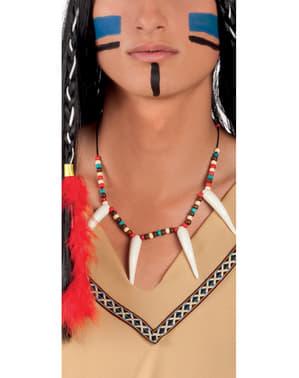 Indiánský náhrdelník pro dospělé s tesáky