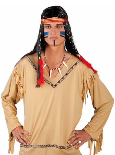 Collar de indio de colmillos para adulto - para tu disfraz