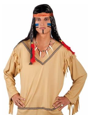 Naszyjnik indiański z kłami dla dorosłych