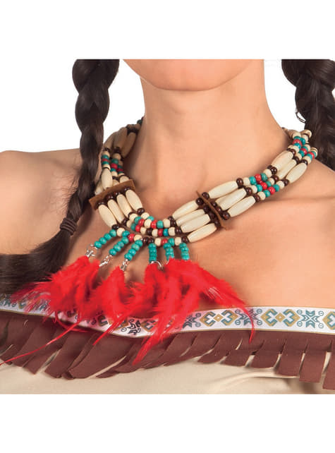 Adult's Indian Necklace with Feathers