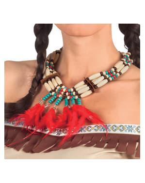 Collana da indiano con piume per adulto
