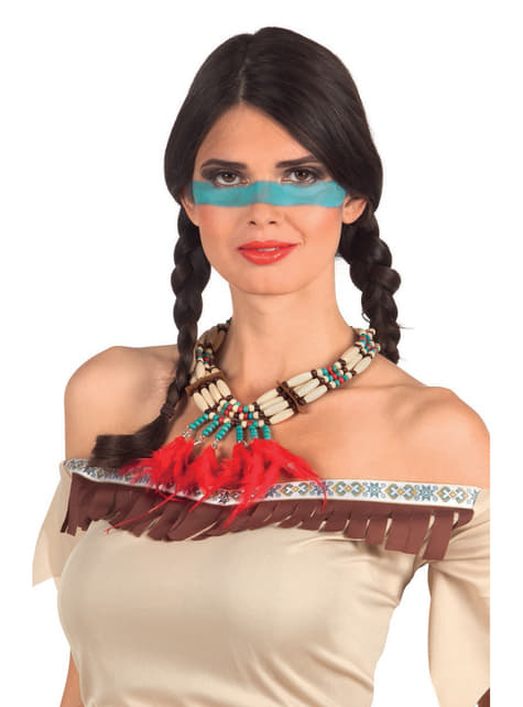 Collar de indio con plumas para adulto - para tu disfraz