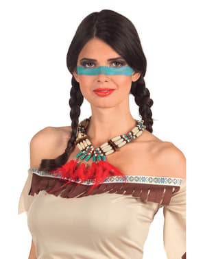 Indianer Kette mit Federn für Erwachsene