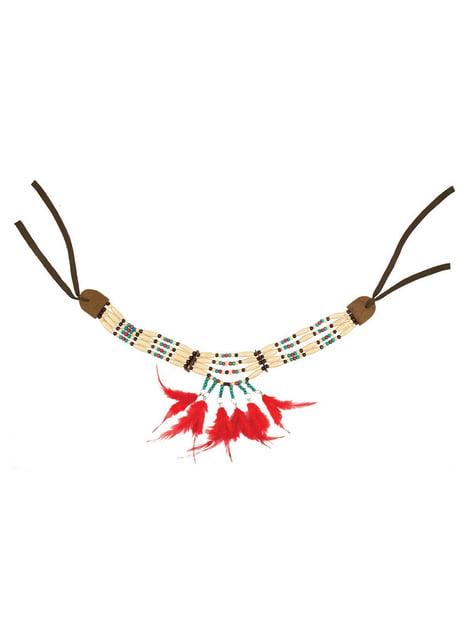 羽を持つ大人のインドのネックレス
