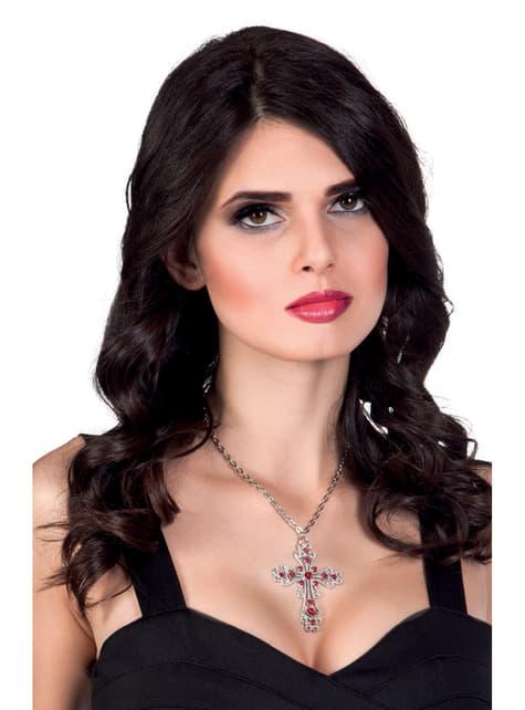 Colgante de cruz gótica para mujer - para tu disfraz