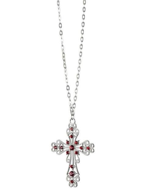Colgante de cruz gótica para mujer - original
