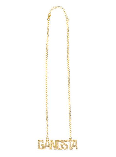 Colgante de rapero dorado para mujer - para tu disfraz