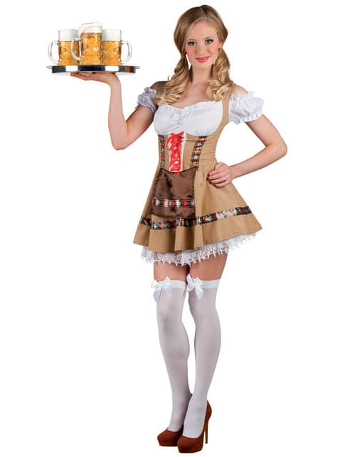 Kostium bawarska kelnerka damski