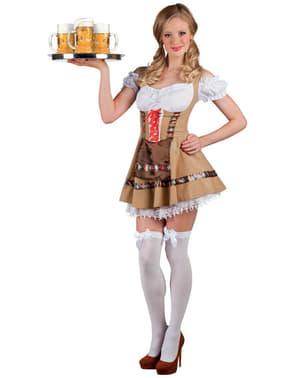 Fato de empregada de mesa bávara para mulher