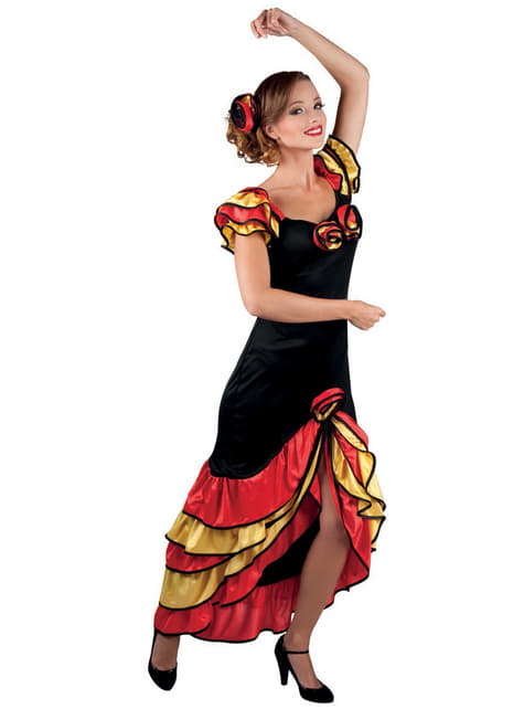 Fato de andaluza elegante para mulher