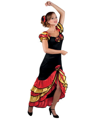 Woman's Elegant Andalusian Costume