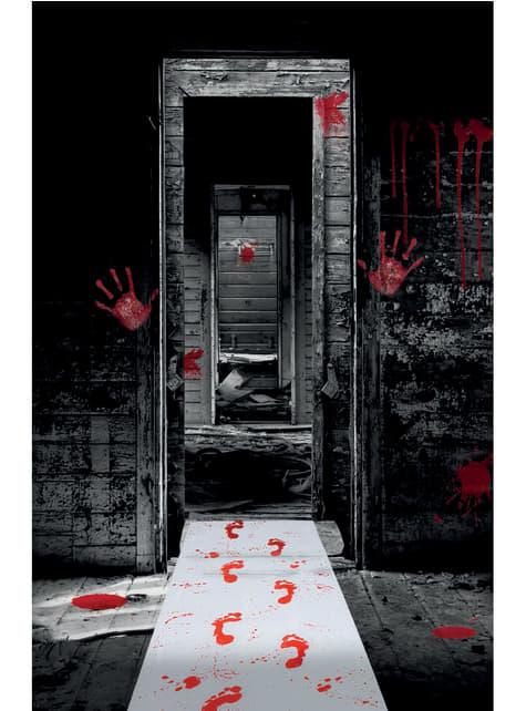 Tapete de pegadas sangrentas