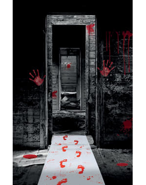 Alfombra de pisadas sangrientas