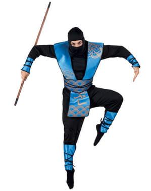 Costume da ninja blu per uomo
