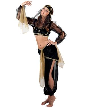 Чорний костюм для танцю живота для жінок