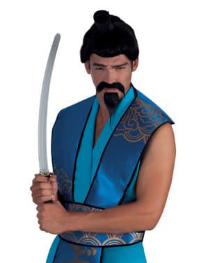 Bigode e pera de samurai para homem