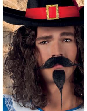Mustață și barbă de muschetar pentru bărbat