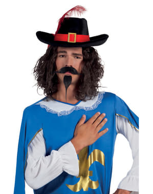 Men's Musketeer Moustache and Goatee